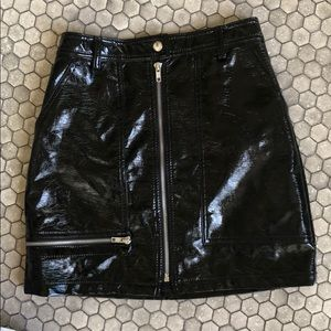 NWT Urban Outfitters Black faux leather skirt